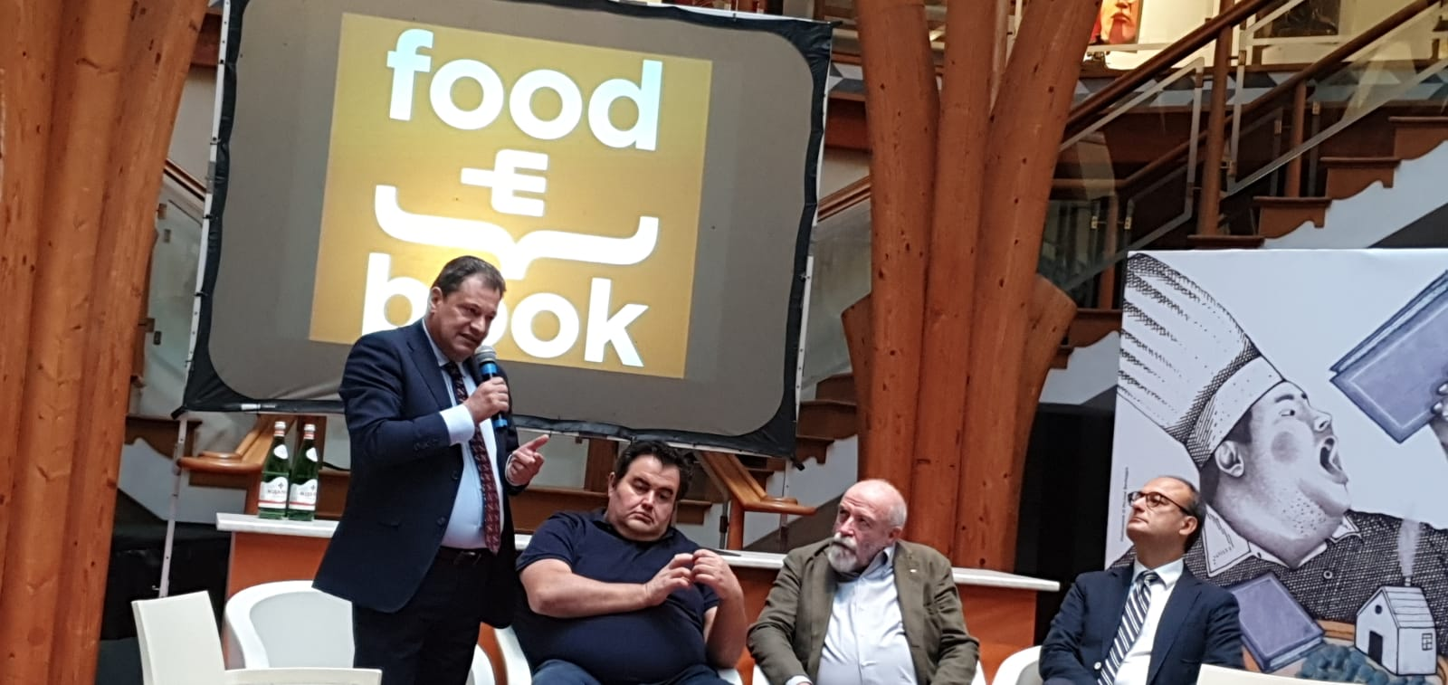 Il Presidente della RE.NA.I.A. Luigi Valentini al Food & Book di Montecatini.